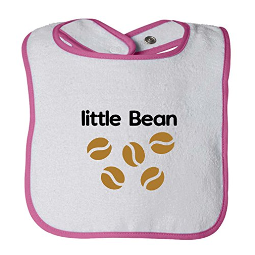 Little Bean Style 1 Infant Contrast Trim Terry Bib White/Hot (Little Bean)