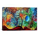 iCanvasART MDN54 Blue Moon Rising de Megan Duncanson Reproducción de lienzo, 60 por 40 pulgadas, 1.5 pulgadas de profundidad