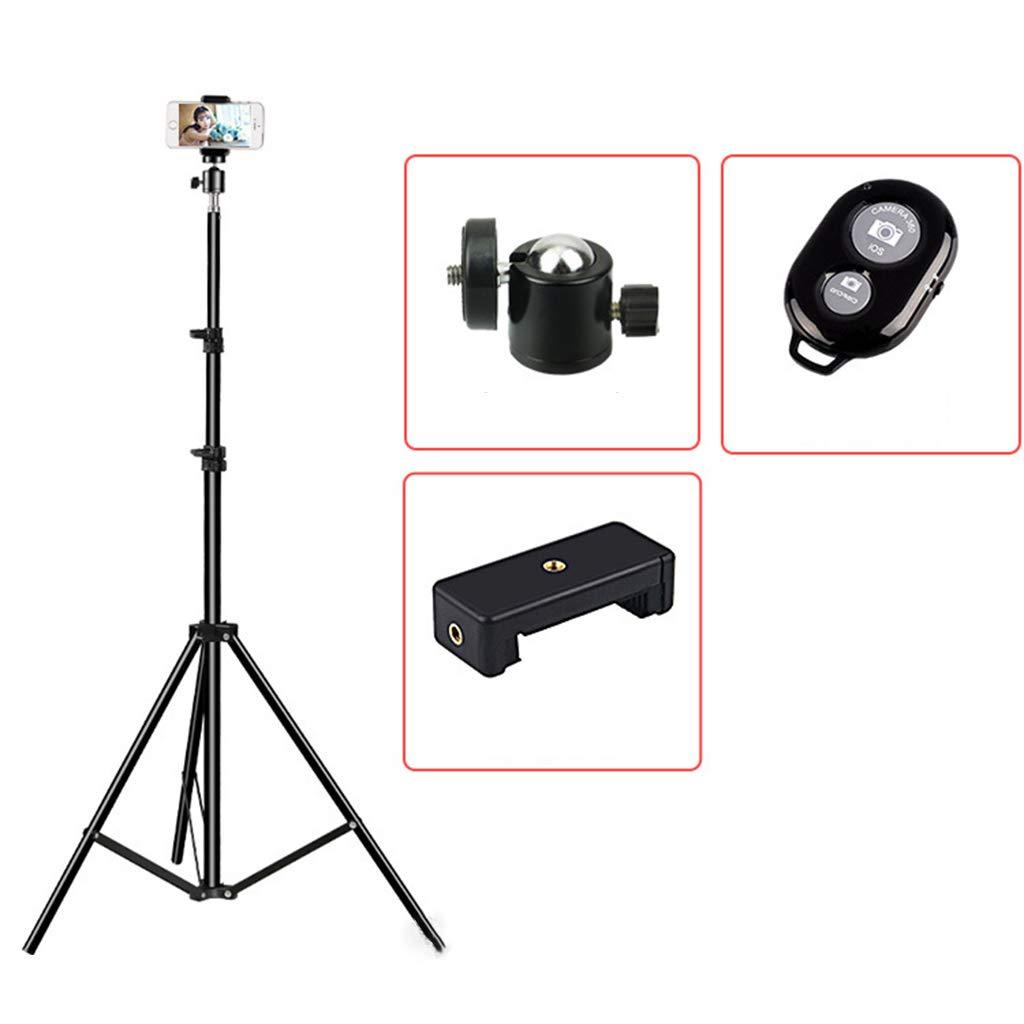 Cher9 Stretchable Tripod Stand Selfie Stick Video Live Stabilizer Cellphone DSLR Cameras Holder Portable Folding Desktop Mount