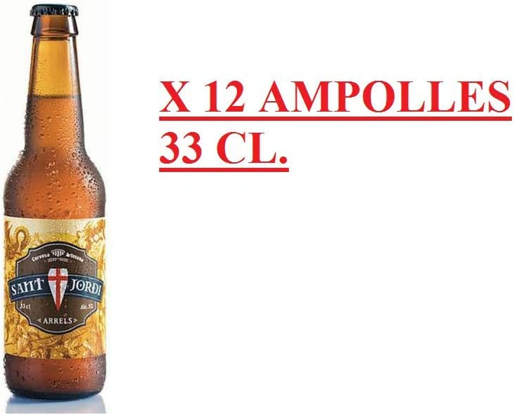 CAJA 12 BOT CERVEZA ARRELS 33 CL (CERVECERIA SANT JORDI): Amazon.es: Alimentación y bebidas