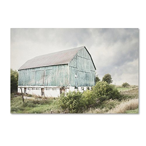 Late Summer Barn I Crop by Elizabeth Urquhart, 30x47-Inch Canvas Wall Art