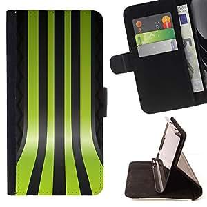 For Sony Xperia M5 E5603 E5606 E5653 Case , Líneas Verdes- la tarjeta de Crédito Slots PU Funda de cuero Monedero caso cubierta de piel