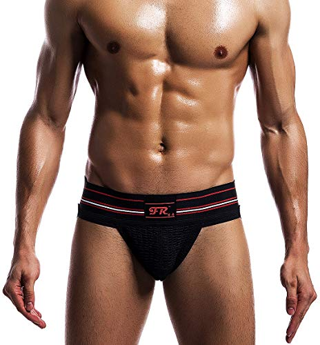 (Arjen Kroos Men's Jock Strap Athletic Supporter Gym Underwear (Black, X-Large/35.4-38.6 inch))
