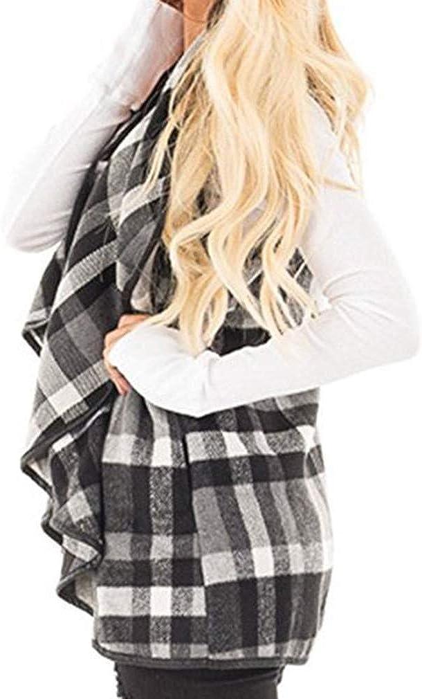 Abrigo Poncho para Mujer Esencial para Chaqueta Elegante Mujer con Cuello Alto Su/éter De Rebeca Irregular Su/éter De Punto Oto/ño Invierno Su/éter De Punto Capa De Punto