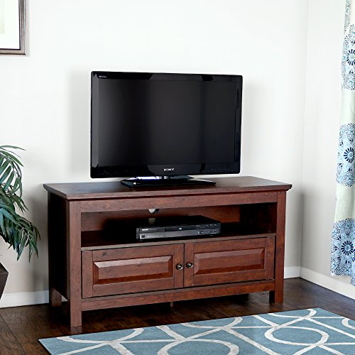 Walker Edison 44 inches Cortez TV Stand Console, Brown