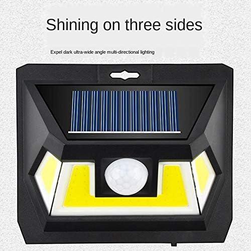 LED-Solarleuchte für den Außenbereich Dreiseitig leuchtender menschlicher Körper, der wasserdichte Innenhof-Solarleuchte für den Außenbereich erkennt