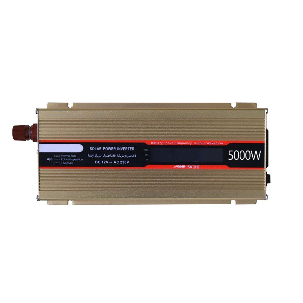 Bolange Convertitore di Potenza con Inverter di Picco da 5000 W, Inverter da 12 V a 220 V con Adattatore per Protezione da sovraccarico