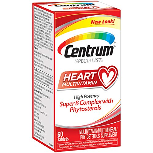 Centrum Specialist Heart Complete Multivitamin Supplement (60-Count Tablets) (Best Magnesium For Heart Health)