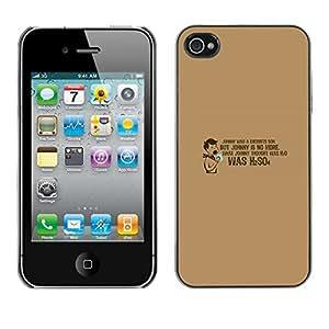 KOKO CASE / Apple Iphone 4 / 4S / cita divertida del laboratorio de química h2o escuela / Delgado Negro Plástico caso cubierta Shell Armor Funda Case Cover