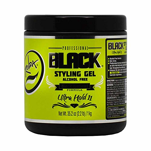 Rolda Styling Gel Ultra Strong Hold Alcohol Free Black 2.2lb (Ultra Hold Gel)