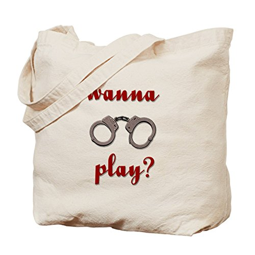 CafePress–Wanna Play esposas?–Gamuza de bolsa de lona bolsa, bolsa de la compra