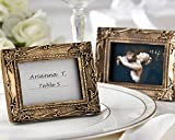 72 ''Work of Art'' Antique-Finish Place Card Holder/Photo Frames - Antique-Gold