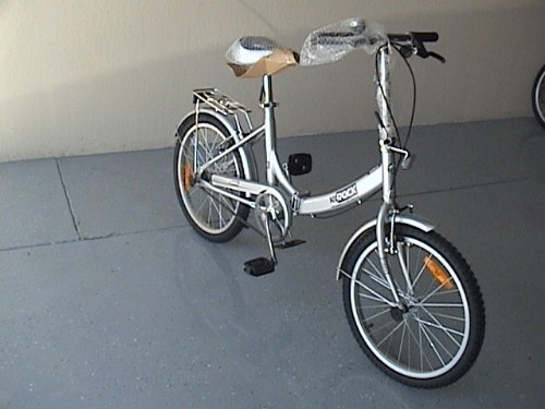 Folding Bike 20 Inchces Color SILVER by BESTCO PRODUCTS (Image #5)