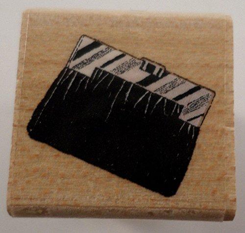 - Hero Arts Zebra Striped Clutch Purse Handbag Purse Wooden Rubber Stamp