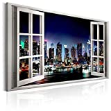 canvas prints Wall Art Paintings New York City Open Window artwork and Framed artwork Ready to Hang for Home Decorations Wall Decor