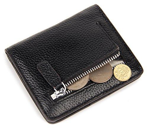 Women Fashion Leather Bifold Wallet (Black) - 9