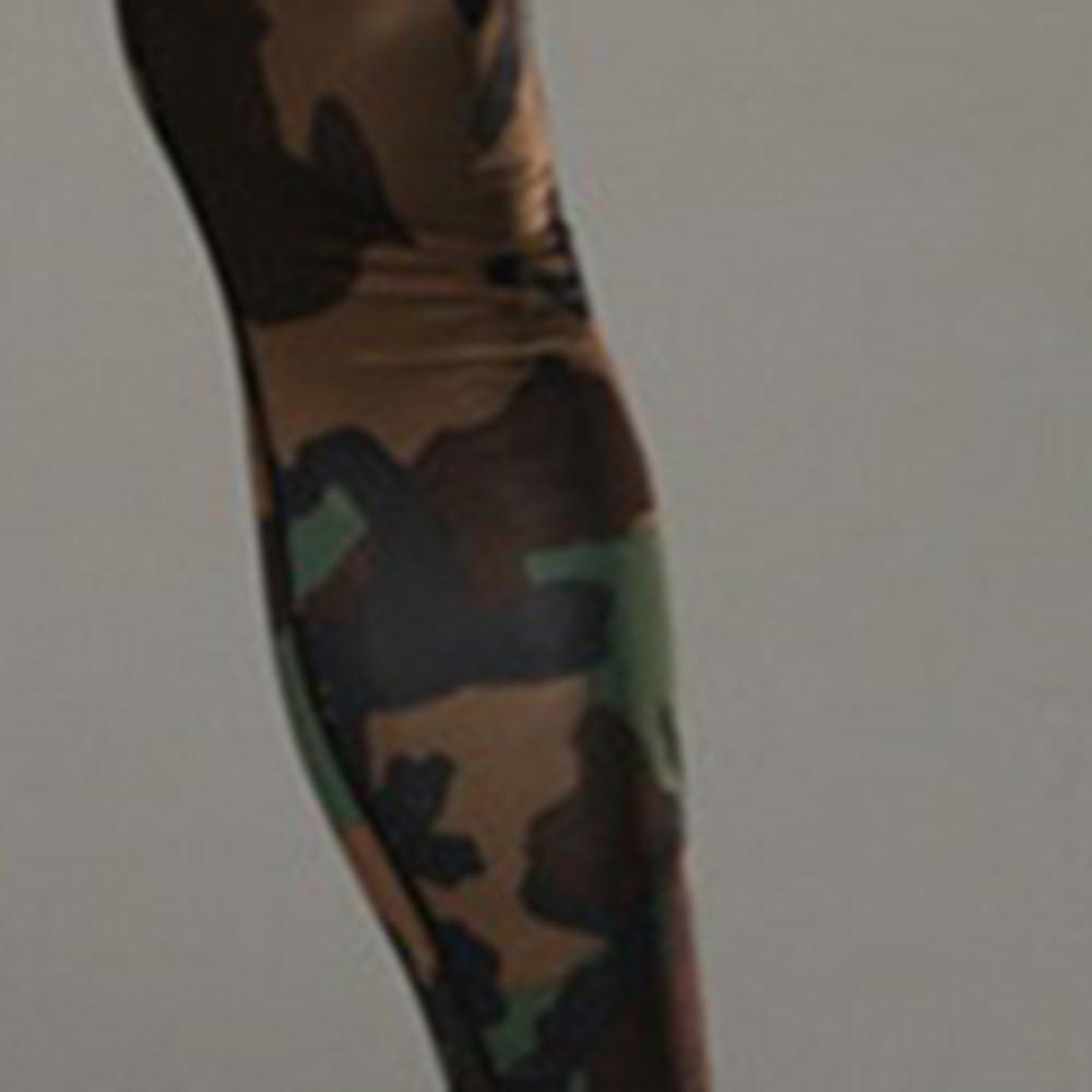 Rera Herren Camouflage Motiv Sport Leggings lang Schnell trocknend Pro Trainingshosen Kompressions Leggings