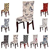 SHZONS Soft Fit Stretch Short Dining Room Chair Covers,Banquet Chair Seat ...