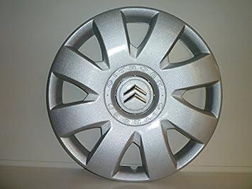 Juego de Tapacubos 4 Tapacubos Diseño Citroen C4 Desde 2004 16 r () Logo Cromado: Amazon.es: Coche y moto