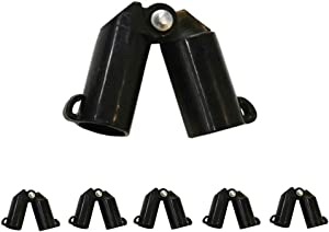 6-Pack for 4/5(20mm) Diameter Plastic Coated Steel Garden Plant Stakes Sturdy Gardening Yard Stick Connecting Tubes B-Type Stake Clips