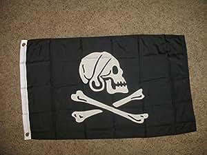 Jolly Roger pirata Capitán Henry cada 2x 32'x3' bandera de poliéster