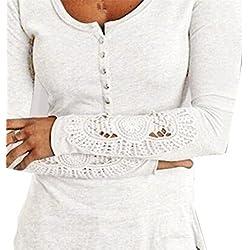 Cotton Tops,Hemlock Women Long Sleeve Shirt Blouse (XL, White)