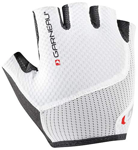 Louis Garneau Women's Nimbus Evo Bike Gloves, White, Medium