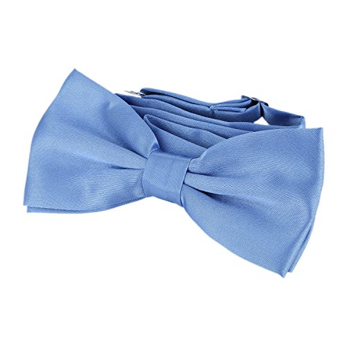 Classy Outfits For Men (DonDon classy mens bow tie in Silk Look pre-tied and adjustable for shirts tuxedo suit jeans blue)