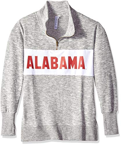 - chicka-d University of Alabama Ladies Quarter Zip Sweater/Pullover/Sweatshirt - Alabama Crimson Tide Women's Apparel