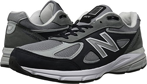 New Balance Men's 990v4, Grey, 10.5 D US (Timeless Plush)