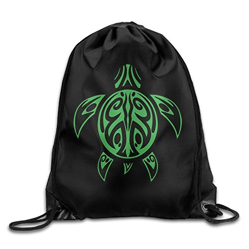 Hawaiian Sea Turtle Drawstring Backpack Beam Mouth Sport Bag Shoulder Bags For Men / Women from 05_&_NG