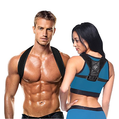 Rounded Lapel (Premium Deluxe Quality Posture Corrector by Proper Posture| Immediately improves back posture for MEN, WOMEN, KIDS| Guaranteed back relief| Effective pain free adjustable support brace (35
