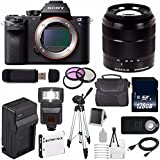 Sony Alpha a7S II a7S Mark II a7SII ILCE7SM2/B Mirrorless Digital Camera (International Model no Warranty) + Sony E-Mount SEL 18-55mm Zoom Lens (Black) + 49mm Filter Kit 6AVE Bundle 24
