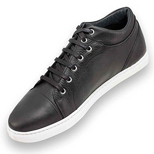 Masaltos Chaussures Réhaussantes Pour Homme avec Semelle Augmentant la Taille Jusqu'À 7cm. Fabriquées en Peau. Modèle Miami Noir T1WVmg