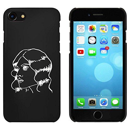 Noir 'Belle Fille' étui / housse pour iPhone 7 (MC00072525)