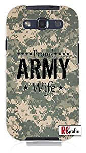 Cool Painting Proud Army Wife USA Desert Digital Camo Unique Quality Hard Snap On Case for Samsung Galaxy S4 I9500 - White Case