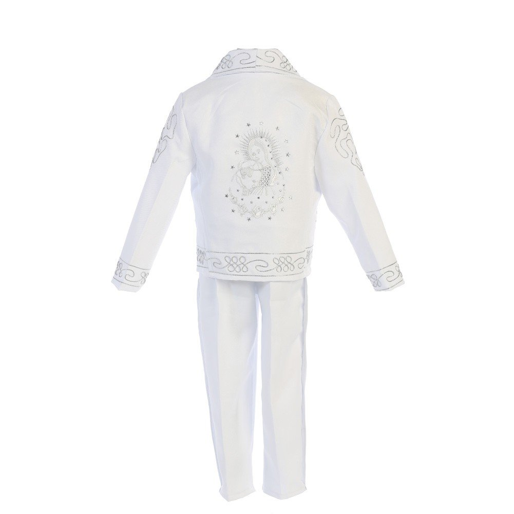 Angels Garment Baby Boys White ''Papa Con Virgen'' Charro Baptism Outfit 6-12M
