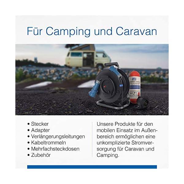 51amSV 9lyL as - Schwabe CEE-Adapterleitung Caravan - CEE-Stecker und Schutzkontaktkupplung – IP44 Wohnmobil Zubehör mit Schutzkappe…