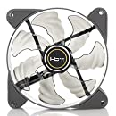 HBT+ AXE 120 High Performance System Case Fan with White LED Light, 120mm PWM, Auto-adjust PWM Fan Controller, Fluid Dynamic Fan, Noise Reduction, Anti Vibration pads. (TF-A1225-PWV1)
