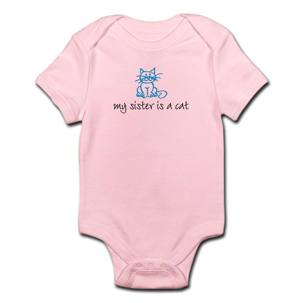 CafePress - My Sister Is A Cat - Blue Infant Creeper - Cute Infant Bodysuit Baby Romper