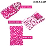 Baybee 3 in 1 Baby Carry Bed for Baby/Sleeping Bed-Baby Bed-nest Bed for Newborn Baby Bed for Newborn 0-6 Months (Pink)
