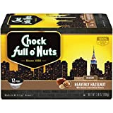 Cheap Chock Full o'Nuts Single-Serve Coffee Pods, Heavenly Hazelnut Medium Roast – Premium Arabica Coffee – Compatible with Keurig K-Cup Brewers (12 Count)