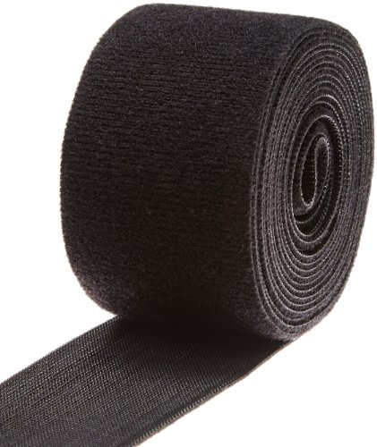 "VELCRO 1806-OW-PB/B Black Nylon Onewrap Velcro Strap, Hook and Loop, 2"" Wide, 10"