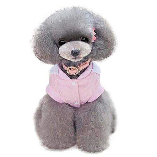 Hpapadks Teddy Cute Heart Bird Pattern Cotton Coat, Pet Dog Clothing Peach Heart Dog Clothes Fall Jacket Winter - Bird Sweatshirt Cotton