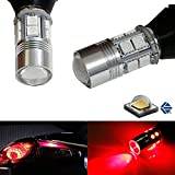iJDMTOY No Hyper Flash Brilliant Red 7440 T20 5W CREE LED Bulbs For Car Front or Rear Turn Signal Lights (Plug-In-Play, No Modification)