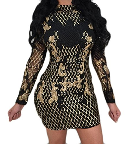 Evening Bodycon Black Casual Comfy Print Backless Elegant Dresses Womens nqfwfICOxY