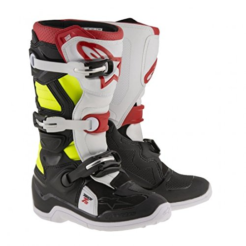 Alpinestars Tech 7S Youth Motocross Boots - Black/Red - Youth 3 ()