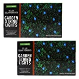 Blue Solar Powered LED String Lights - Pack of 2