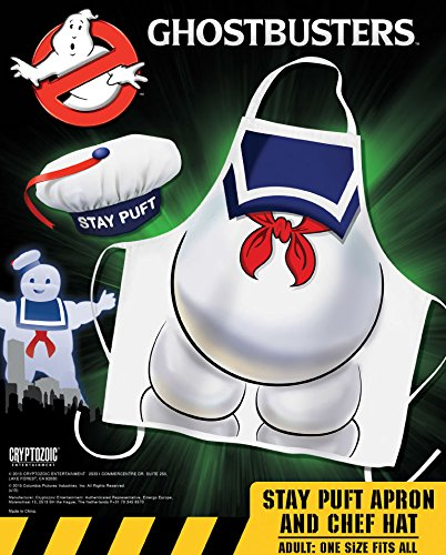 Marshmallow Man Ghostbusters Costume (Cryptozoic Entertainment Ghostbusters Stay Puft Apron & Hat Costume)