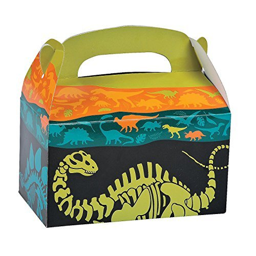 2 Set of 12 Fun Express Dino Dig Favor Boxes bundled by Maven Gifts ()